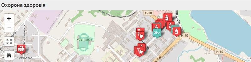 Карта Охорона здоров'я